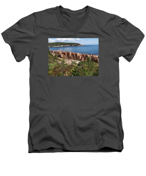 Acadia Maine Men's V-Neck T-Shirt by Catherine Gagne