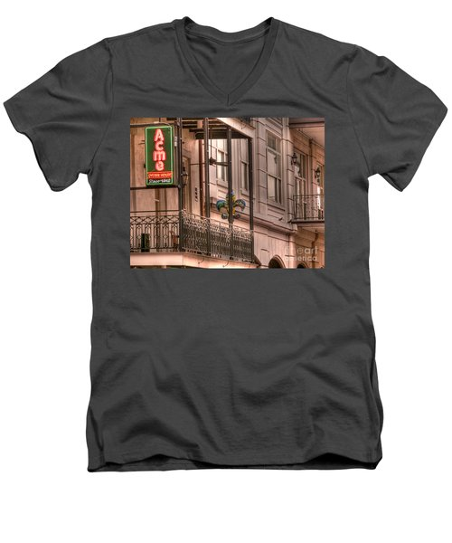 Acme Oyster House Men's V-Neck T-Shirt by David Bearden