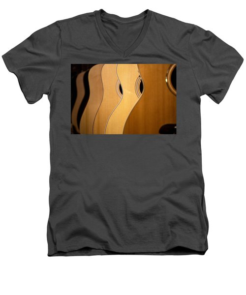 Men's V-Neck T-Shirt featuring the photograph Acoustic Design by John Rivera