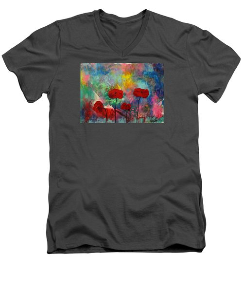 Acrylic Msc 078 Men's V-Neck T-Shirt