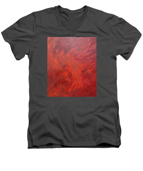Acrylic Msc 181 Men's V-Neck T-Shirt