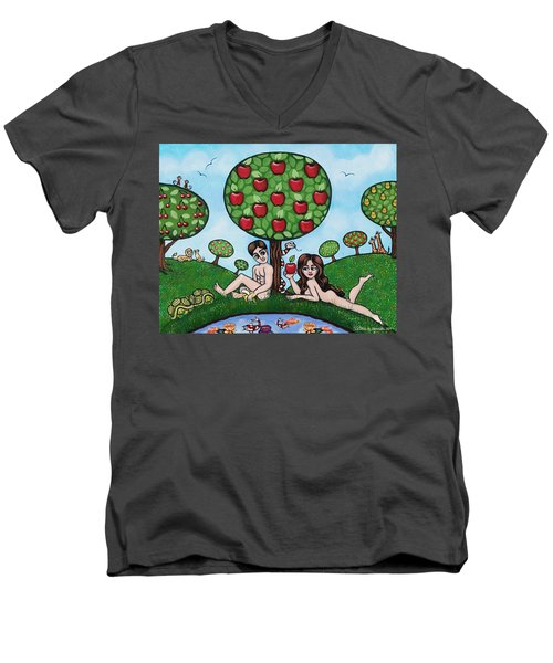 Adam And Eve The Naked Truth Men's V-Neck T-Shirt