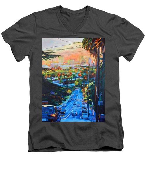 Towards The Light Men's V-Neck T-Shirt by Bonnie Lambert