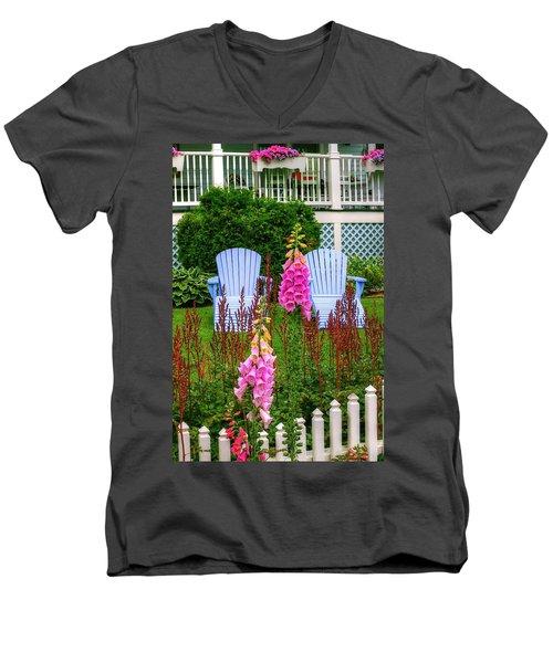 Adirondack Garden Men's V-Neck T-Shirt