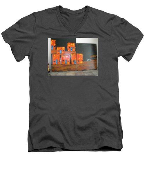 Adobes Men's V-Neck T-Shirt by Sharyn Winters