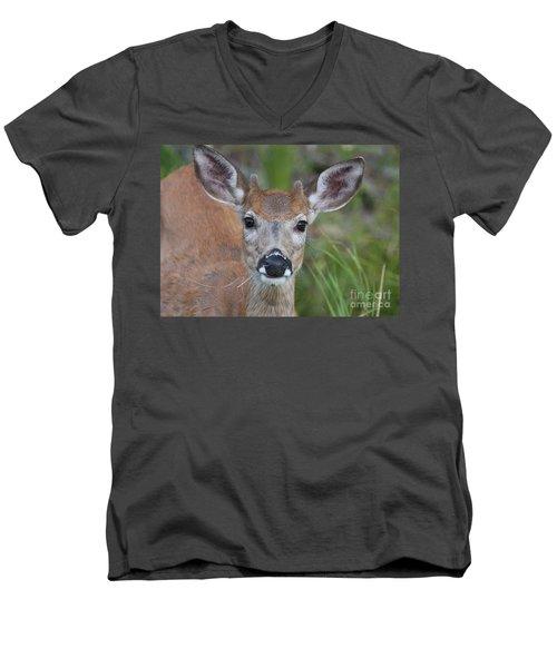 Adolescent Curiosity Men's V-Neck T-Shirt