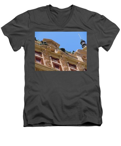Men's V-Neck T-Shirt featuring the photograph Adolphus Hotel - Dallas #2 by Robert ONeil