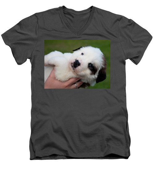 Adorable Hand Full Men's V-Neck T-Shirt