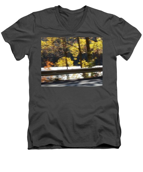 Men's V-Neck T-Shirt featuring the photograph Advance by Thomasina Durkay