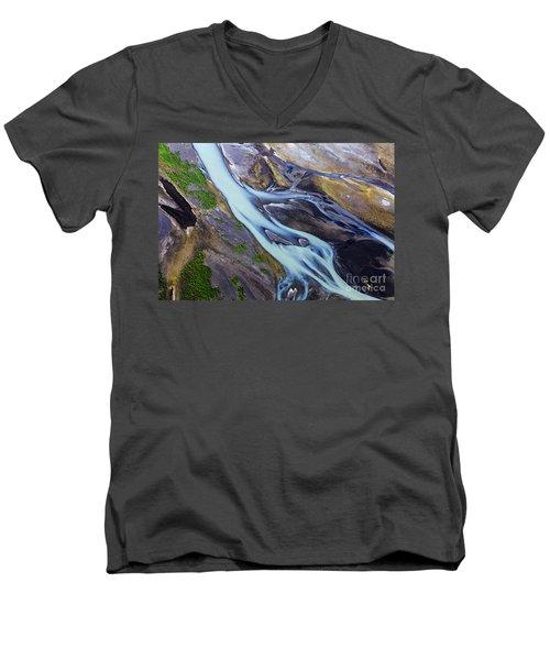 Aerial Photo Of Iceland  Men's V-Neck T-Shirt