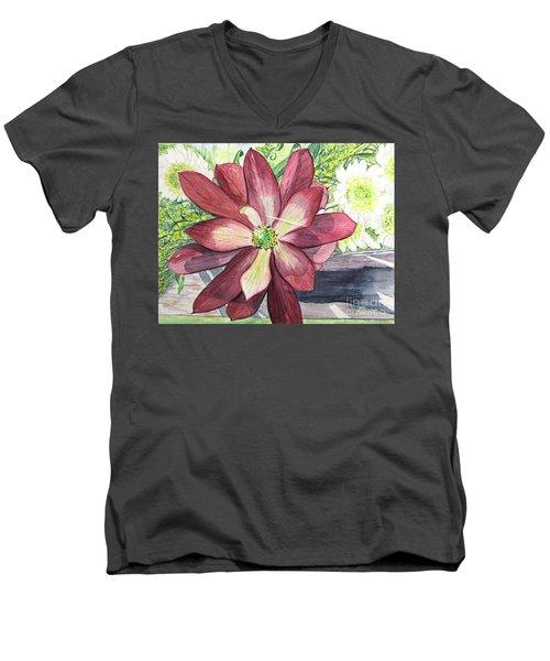 African Flower Men's V-Neck T-Shirt by Carol Flagg