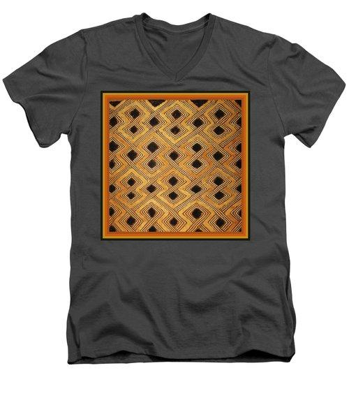African Zaire Congo Kuba Textile Men's V-Neck T-Shirt