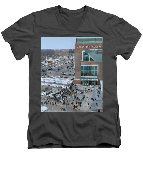 After A Winter Packers Game Men's V-Neck T-Shirt