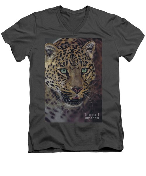 After Dark All Cats Are Leopards Men's V-Neck T-Shirt