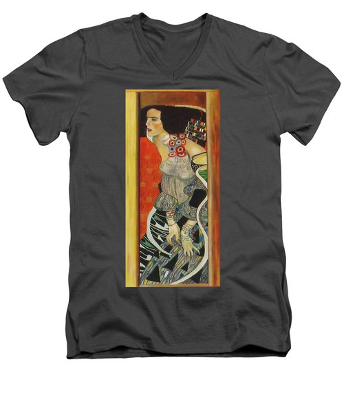 After Gustav Klimt Men's V-Neck T-Shirt