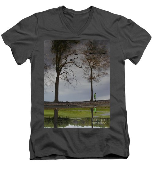 After Soccer By The Pond Men's V-Neck T-Shirt