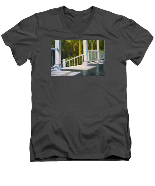After The Rain Men's V-Neck T-Shirt by Alan Lakin