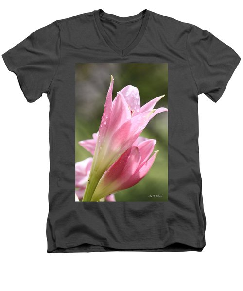Men's V-Neck T-Shirt featuring the photograph After The Rain by Amy Gallagher