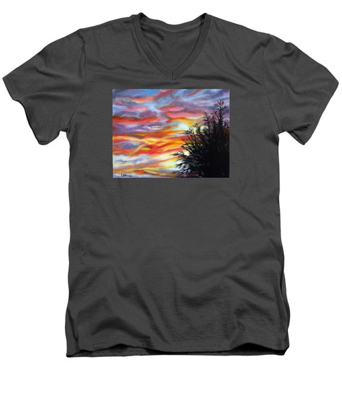 After The Storm Men's V-Neck T-Shirt by LaVonne Hand
