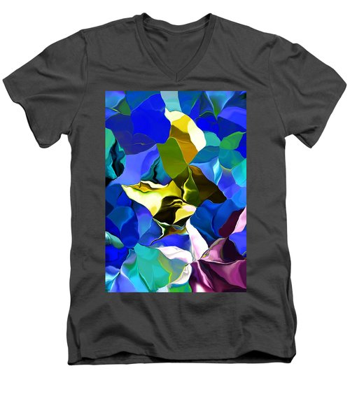 Men's V-Neck T-Shirt featuring the digital art Afternoon Doodle 020215 by David Lane
