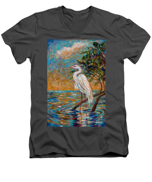 Afternoon Egret Men's V-Neck T-Shirt