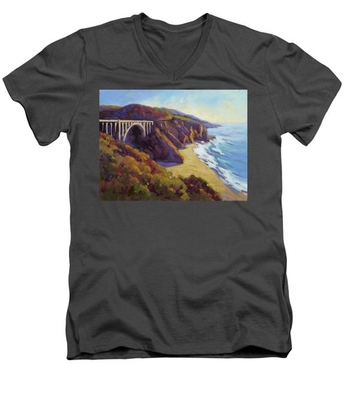Afternoon Glow 3 Big Sur Men's V-Neck T-Shirt