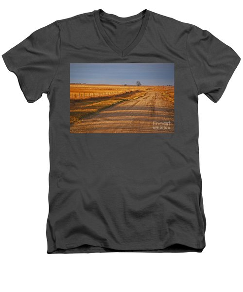 Afternoon Shadows Men's V-Neck T-Shirt by Mary Carol Story