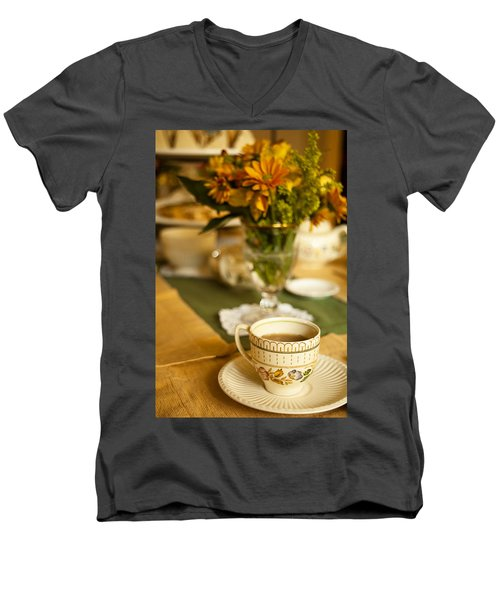 Afternoon Tea Time Men's V-Neck T-Shirt by Andrew Soundarajan