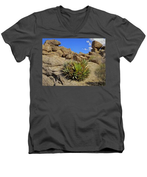 Against The Odds Men's V-Neck T-Shirt by Michael Pickett