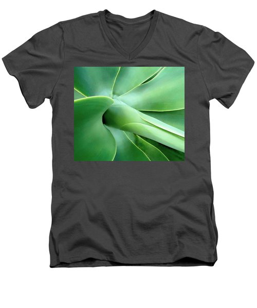 Agave Heart Men's V-Neck T-Shirt by Peter Mooyman