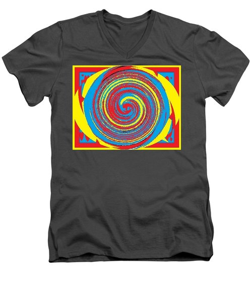 Men's V-Neck T-Shirt featuring the digital art Aimee Boo Swirled by Catherine Lott