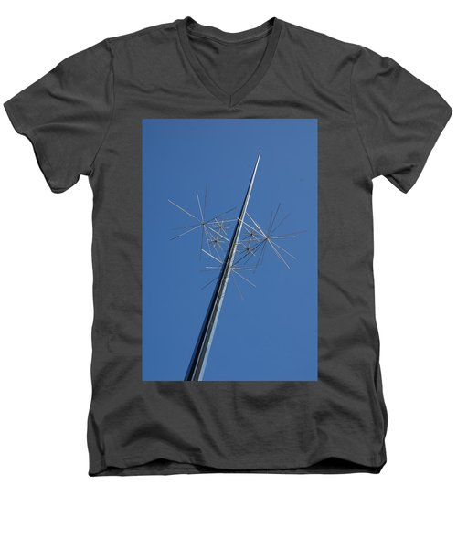 Air And Space Museum Art Spire Men's V-Neck T-Shirt