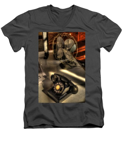 Air Conditioned Office  Men's V-Neck T-Shirt