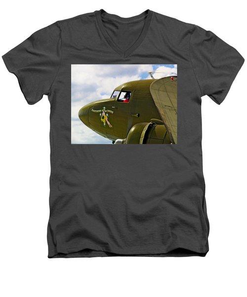 Airplane Named Southern Crosss Men's V-Neck T-Shirt
