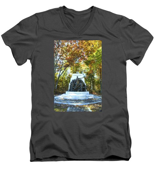 Alabama Monument At Gettysburg Men's V-Neck T-Shirt by Paul W Faust -  Impressions of Light