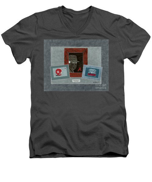 Alabama Trio  Men's V-Neck T-Shirt by Herb Strobino
