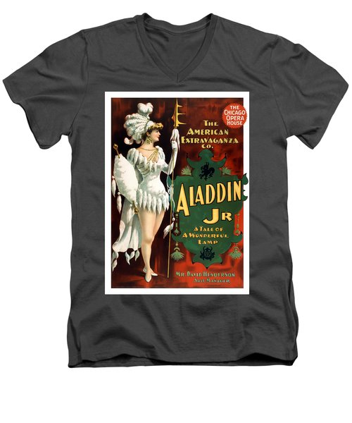 Aladdin Jr Amazon Men's V-Neck T-Shirt by Terry Reynoldson