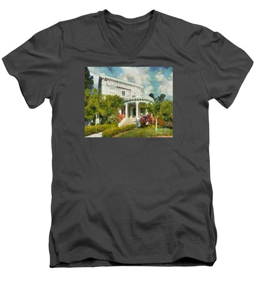 Alameda 1896-97 Colonial Revival Men's V-Neck T-Shirt by Linda Weinstock
