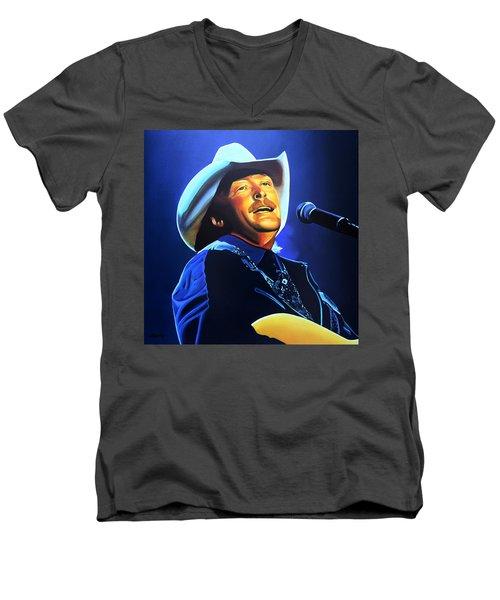 Alan Jackson Painting Men's V-Neck T-Shirt