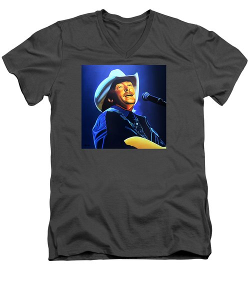Alan Jackson Painting Men's V-Neck T-Shirt