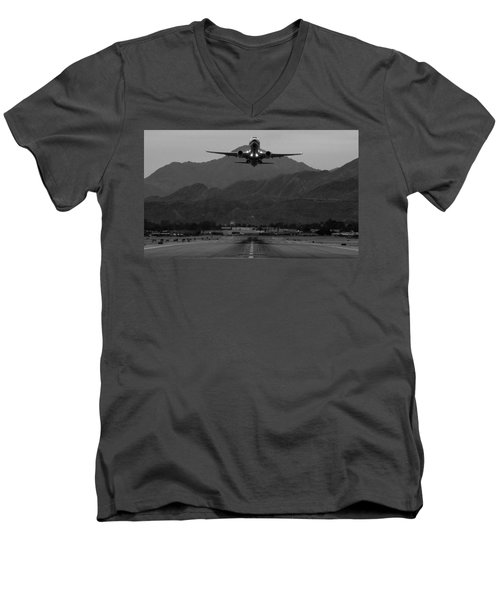Alaska Airlines Palm Springs Takeoff Men's V-Neck T-Shirt