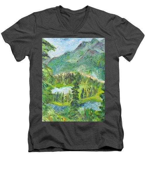 Alaska  Mountain Range Men's V-Neck T-Shirt