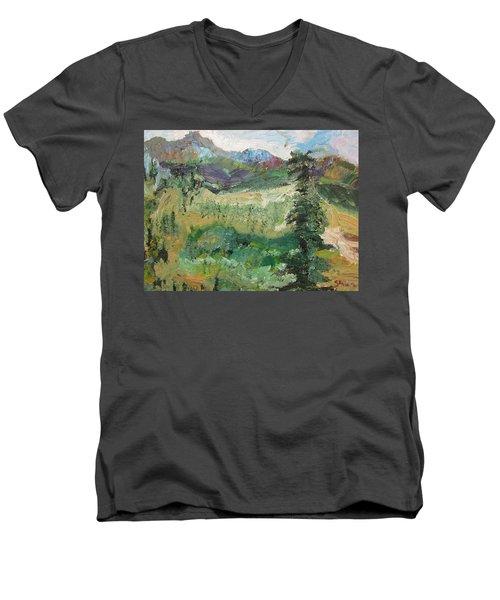 Alaskan Landscape Men's V-Neck T-Shirt