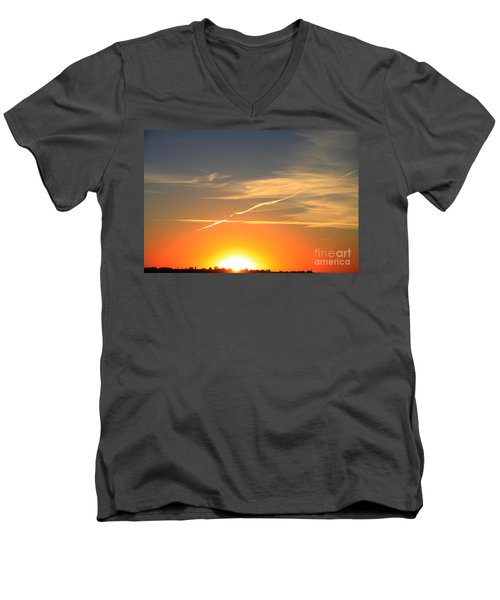 Alberta Sunset Men's V-Neck T-Shirt