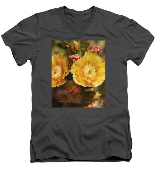 'albispina' Cactus #2 Men's V-Neck T-Shirt