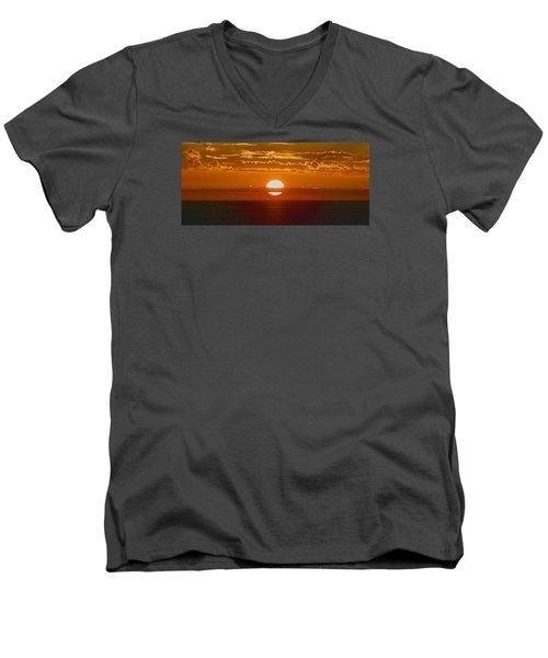 Aldinga Beach Sunset Men's V-Neck T-Shirt by Jocelyn Kahawai