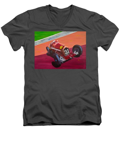 Alfa Romeo Tipo B P3  Men's V-Neck T-Shirt