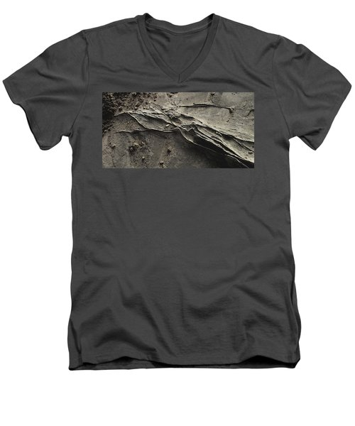 Alien Lines Men's V-Neck T-Shirt by David Hansen