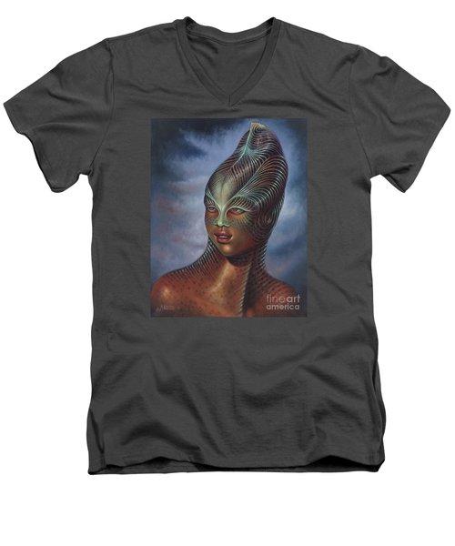 Alien Portrait I Men's V-Neck T-Shirt