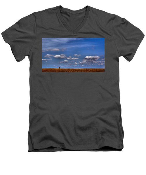 All By Myself Men's V-Neck T-Shirt by Steven Reed